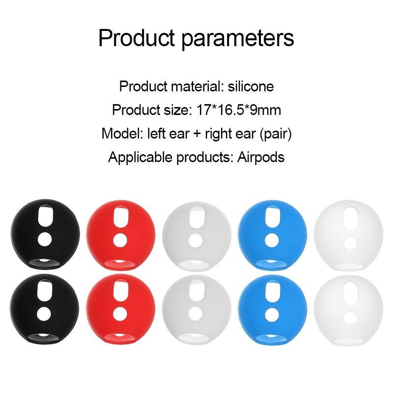 4 pairs Soft Ultra Thin Earphone Tips Anti Slip Earbud Silicone Earphone Case Cover for AirPods Earpods