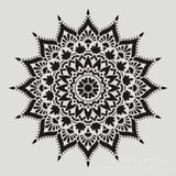 1PC Mandala templates for painting wooden furniture, floor tiles, glass cloth, reusable airbrush template (300 X 300 Mm)