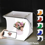 Portable Photo Studio Box Folding Photography Studio Box LED Light Room Photography Lighting Tent Backdrop Mini Photo Box