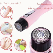 Load image into Gallery viewer, Mini Women Electric Facial Hair Remover Shaver Face Care Body Hair Removal Painless Portable Epilators Trimmer Beauty Tools