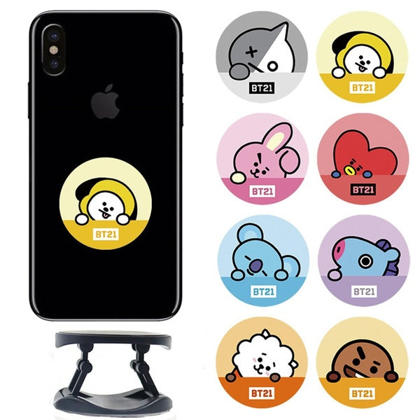 BTS BT21 Foldable Cute Phone Ring Kickstand Phone Prop Phone Stand