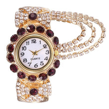 Load image into Gallery viewer, Exquisite Women Bracelet Wrist Watch Crystal Diamond Display Fashion Lady Quartz Watch Relogio Feminino
