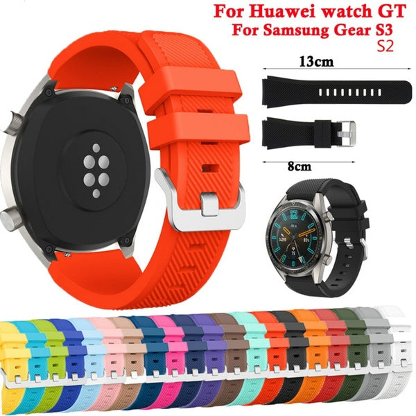 Sport Band For Huawei Watch GT Samsung Galaxy Watch S2 S3 Strap Smart Watch Replacement Watchband Wristband For Huawei Watch GT Bracelet Accessories