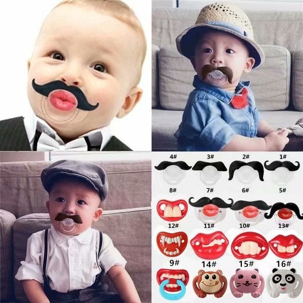 Baby Silicone Pacifier Funny Pacifier Rabbit Teeth Pacifier Beard Pacifier