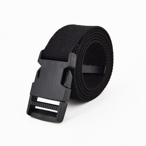 Fashion Black Canvas Belt for Women Casual Female Waist Belts with Plastic Buckle Harajuku Solid Color Long Belts Ceinture Femme
