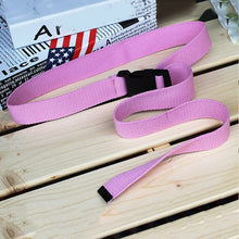 Load image into Gallery viewer, Fashion Black Canvas Belt for Women Casual Female Waist Belts with Plastic Buckle Harajuku Solid Color Long Belts Ceinture Femme
