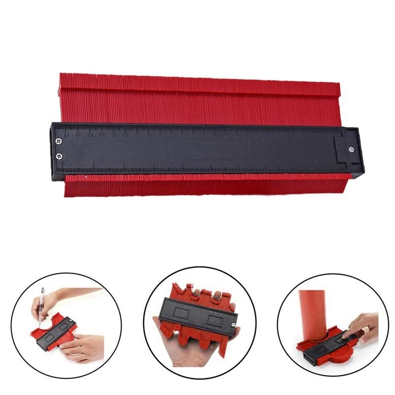 yanga4? Plastic Irregular Shaper Profile Ruler Gauge Duplicator Contour Scale Template Curvature Scale Tiling Laminate General Tools