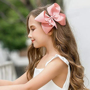 4' Handmade Boutique Grosgrain Ribbon JoJo Bow Hair Bow Alligator Clips Hair Accessories JoJo Siwa Bows For Girls