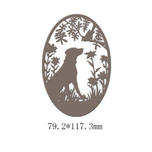 Load image into Gallery viewer, New 2019 Metal Cutting Dies Crafts Frame Background Dog & Bird Stencils for DIY Scrapbooking Card Making Album Paper Embossing Crafts Die Cut