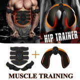 EMS Muscle Training Gear Remote Control Muscle Trainer Fat Burning Smart Body Building Fitness Kits AbsFor Hips / Abdominal / Arm Trainer