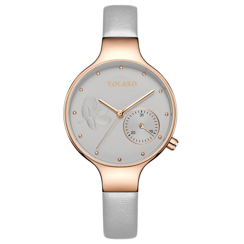 Fashion Casual Ladies Quartz Watch Ladies Leather Strap Watch Luxury Ladies Clocks Montre Femme Relogio Feminino