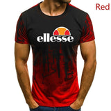 New Mens Ellesse Logo Printed  Splash Ink Graphic  T-shirt