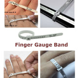 Silver Ring Sizer Finger Sizing Measuring Stick Metal Ring Mandrel US Size