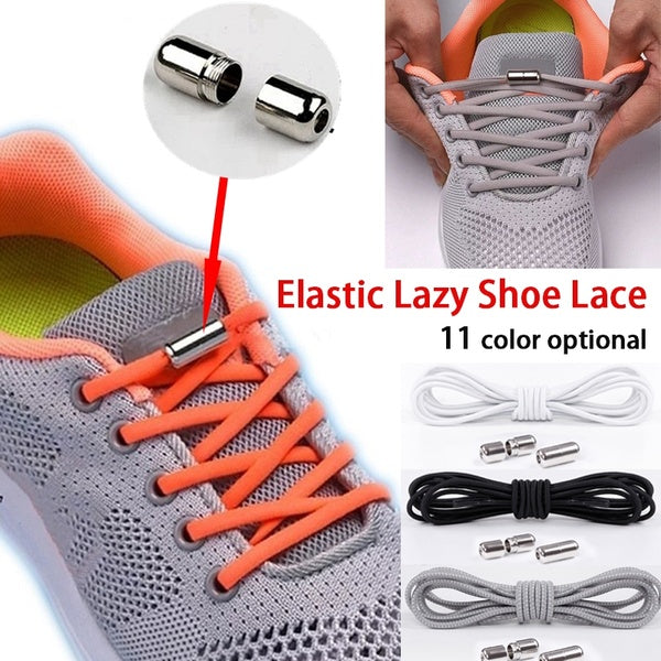 1 Pair New Fashion Round Elastic Shoe Laces for Kids and Adult Sneaker Quick Shoelace Lazy Laces Fashion Sports Accessories