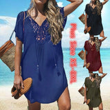 Womens Swimsuit Bikini Trim Swimwear Beach Beach Wear Swim Wear Cover Up Dress Blouse T Shirt