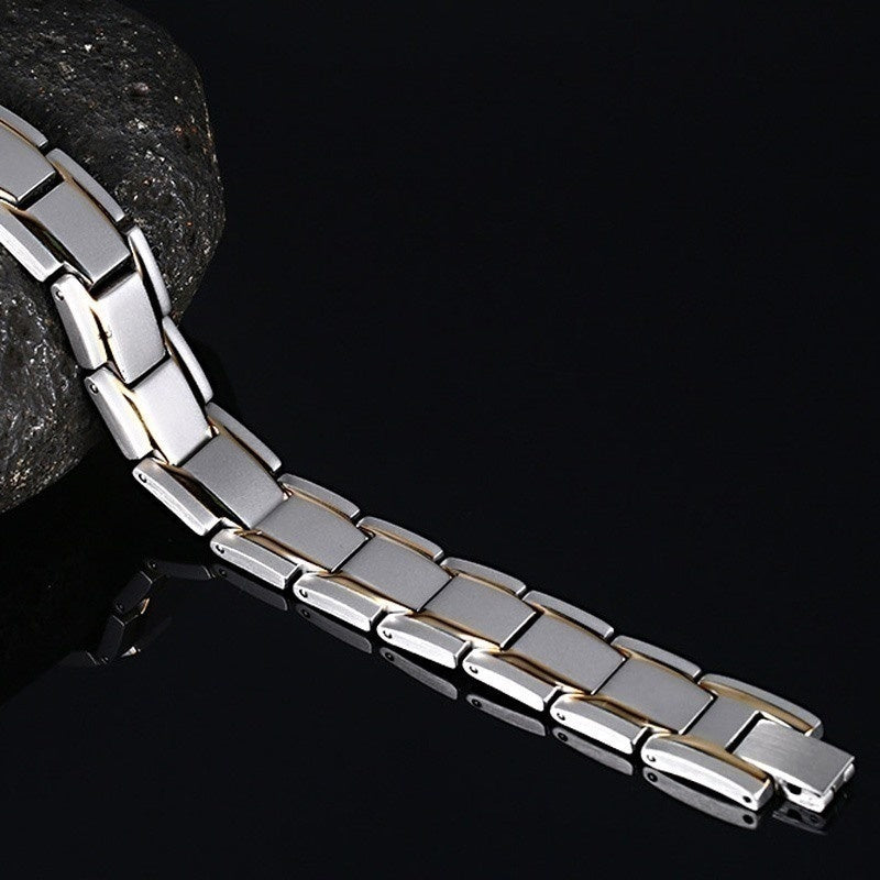 Men Women Bio Healthy Titanium Steel  Magnetic Therapy Energy Bracelet