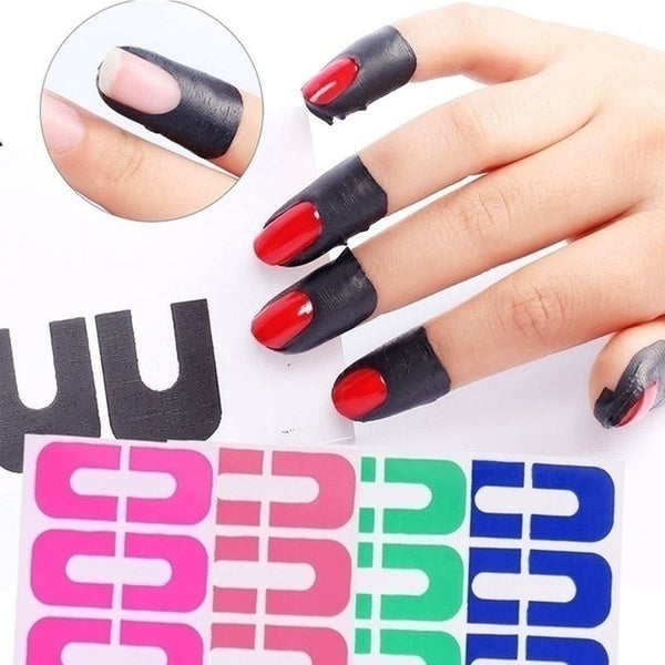 40 Pcs Anti-overflow Nail Sticker Nail Polish Spilling U-shaped Finger Cover Sticker