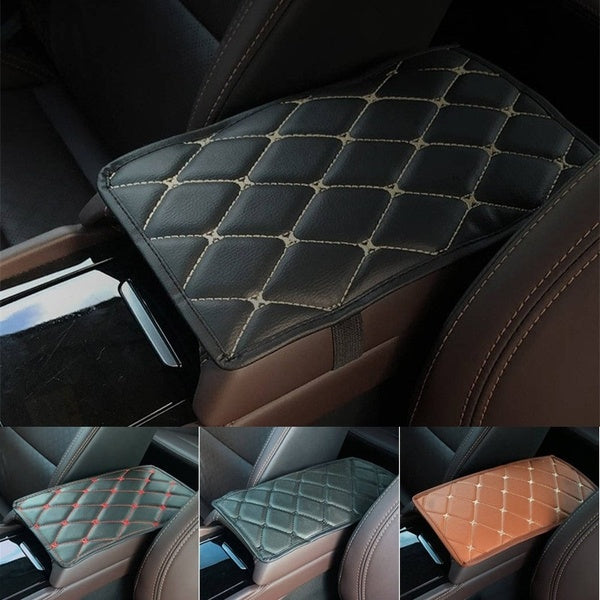 1pc Car Armrest Pad Cover Center Console Box Leather Cushion Armrests Pad Accessory