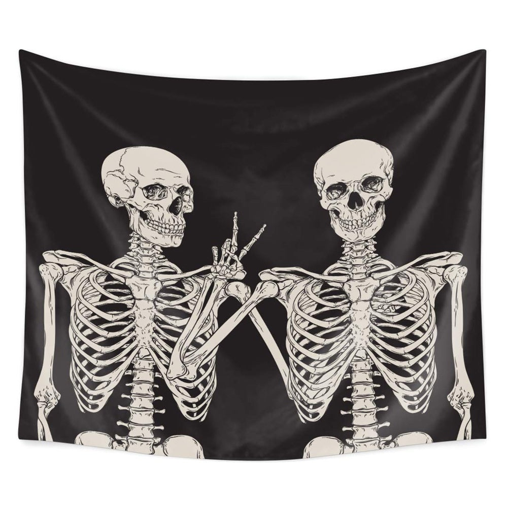 Home Decor Tapestries Wall Art, Skull Human Skeleton Tapestry Wall Hanging Art Sets