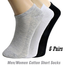 Load image into Gallery viewer, 5Pairs /lot Mens Cotton Socks Summer Thin Breathable Socks High Quality Socks Men