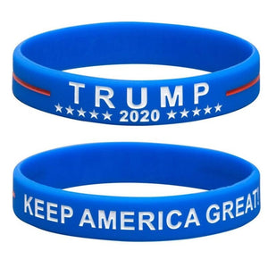 2Pcs/Set Trump Donald Trump Keep America Great Silicone Bracelet Wrist Strap