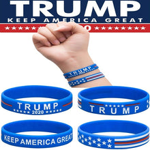 Load image into Gallery viewer, 2Pcs/Set Trump Donald Trump Keep America Great Silicone Bracelet Wrist Strap