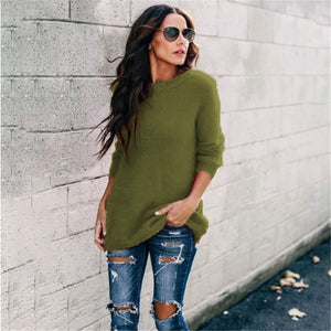NEW Autumn And Winter Fashion Women Casual Tops Fuzzy Blouse Pullover Jumper Loose Sweater Knitwear  Long Sleeve Knitted Sweaters