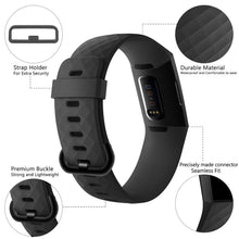 Load image into Gallery viewer, Fashion Pure Color Silicone Replacement Smart Watch Accessories Bracelet Strap for Fitbit Charge 3 Band Wristband Belt Fit Bit Band