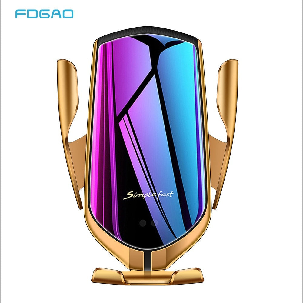 FDGAO 10W Fast Charging Automatic Clamping Qi Wireless Car Charger Mount 2 In 1 Air Vent Car Bracket Phone Charger for Iphone 11 Pro X XS XR 8Plus 8 Samsung S10 S9 S8 S7 S6 Note 10 9 8 5 Huawei P30 Pro Mate 20 Pro