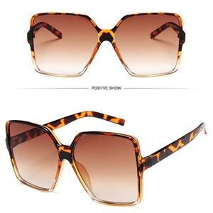 New Retro Big Square Sun Glasses Women Men Oversized Sunglasses  Ladies Sunglasses Uv400 Gafas De Sol Mujer