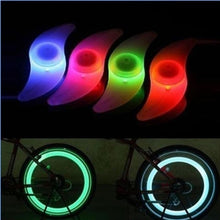 Load image into Gallery viewer, 2 Pcs Bicycle Spokes Lamp Bike Willow Leaves-shape LED Wheel Steel Wire Lights Waterproof Bike Decor Lamp(four Colours)