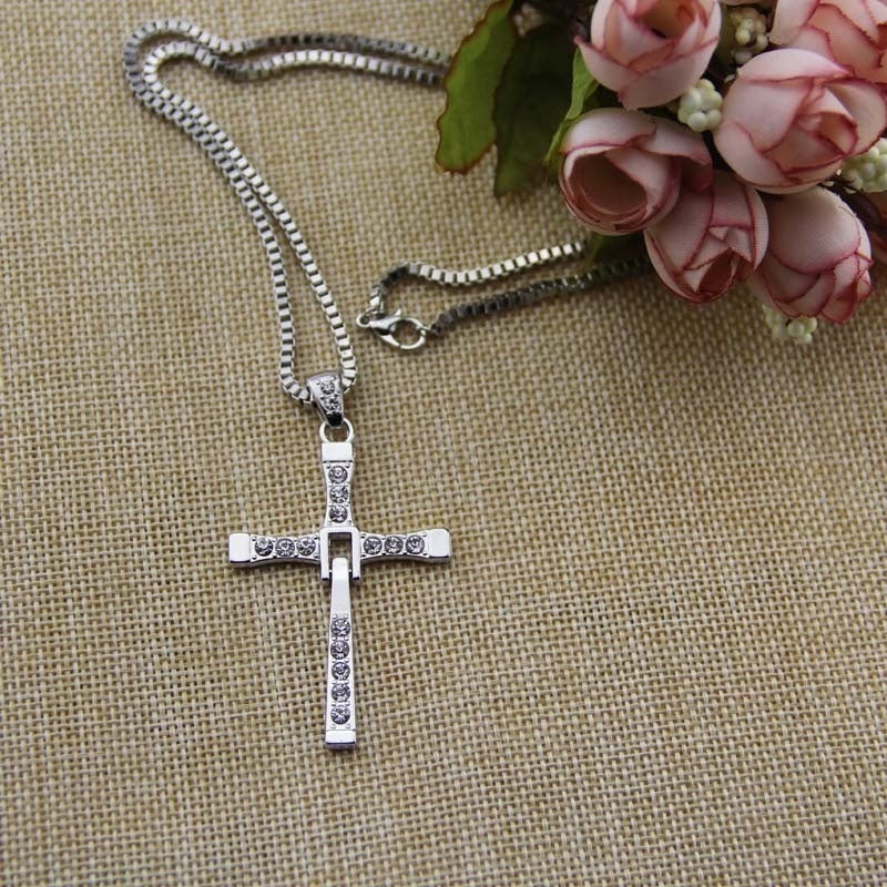 Hot Selling The Movie Fast and Furious Pendant Dominic Toretto Cross Men's Necklace Drop