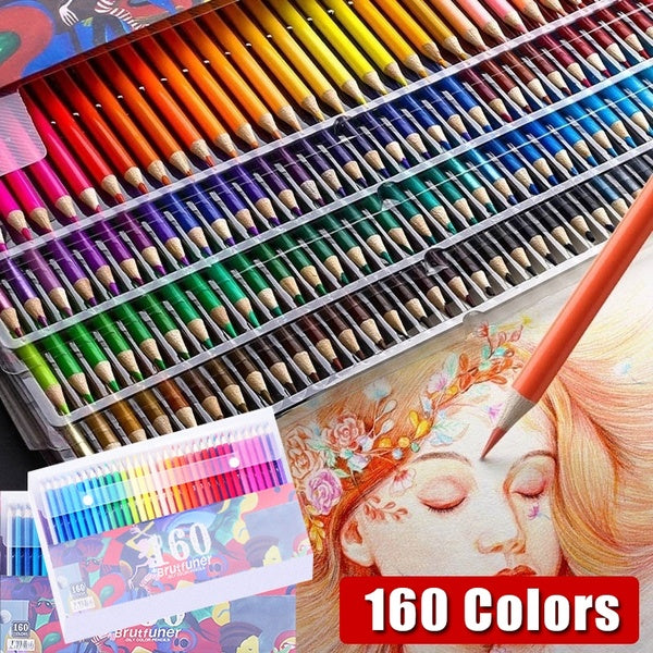 160 Colors Watercolor Pencils Water Soluble Colored Pencils for Art Students Professionals -Assorted
