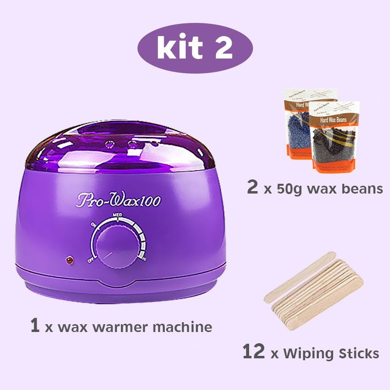 Professional Waxing Hair Removal Kit Electric Oakeer Depilatory Tool Wax Warmer Heater Rapid Melt At Home Waxing for Girls & Women & Men with Hard Wax Beans Applicator Sticks Wax Warmer Machine