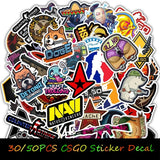 30/50PCS CSGO Game Sticker Toy DIY Craft for Guitar Luggage Skateboard Laptop Car Fridge Waterproof Funny Graffiti Stickers