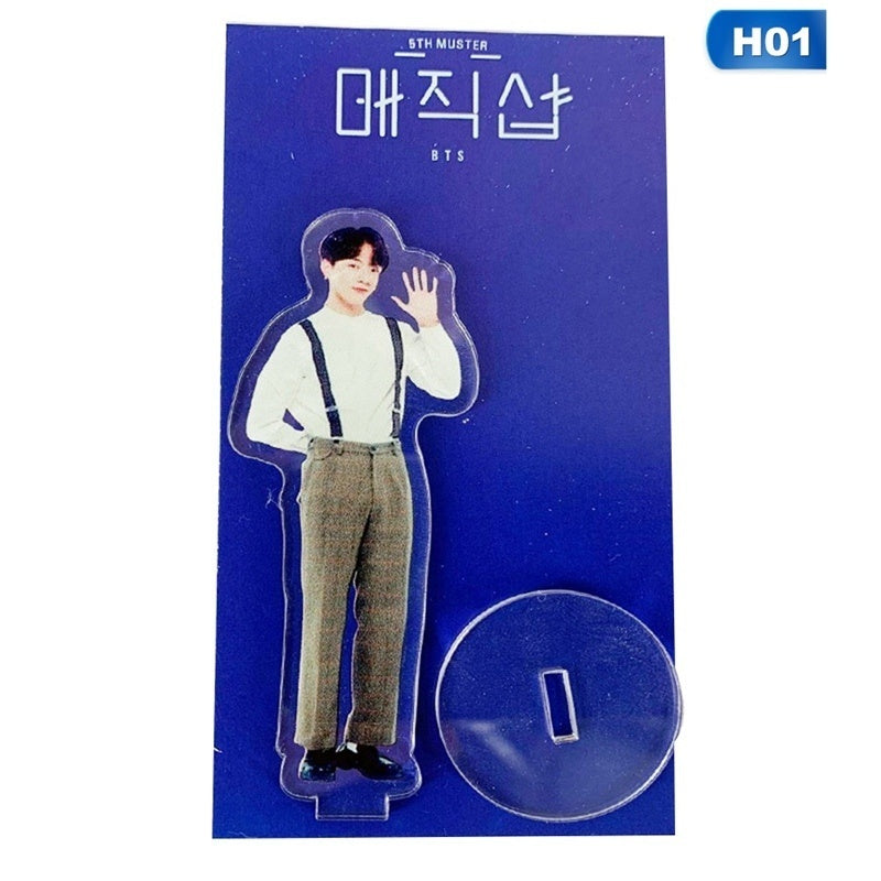 Kpop Bts Bangtan Boys 2019 5Th Muster Mini Acrylic Transparent Stand Figure Doll Cute Standing Action Model