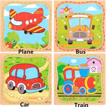 Load image into Gallery viewer, 9 Wooden Puzzle Educational Developmental Baby Kids Training Toy Christmas Gift,Jouet de puzzle pour enfants