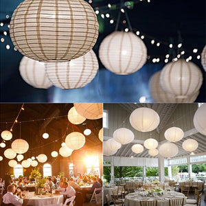 4-12 Inch Mix Size Chinese Paper Ball Lampion Hanging White Wedding Decoration Paper Lanterns Lampshade Party Decor
