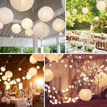Load image into Gallery viewer, 4-12 Inch Mix Size Chinese Paper Ball Lampion Hanging White Wedding Decoration Paper Lanterns Lampshade Party Decor