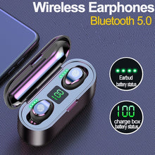 Load image into Gallery viewer, Supper Bass Bluetooth Wireless Earphones Stereo Surround Headset Mini Touch Earbuds Kopfh?rer ¨¦couteurs Auriculares Fones De Ouvido LED Power Display Noise Canceling Headphones with Charging Box