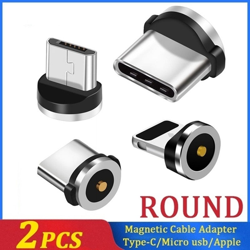 1pcs/2pcs Magnetic Cable Plug Type C Micro USB Lightning Magnetic Charging Cable Adapter Magnet Charger Cord Plug