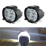 12W High Power Super Bright Motorcycle LED Light Fog Spot White Headlight