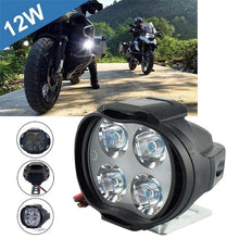 Load image into Gallery viewer, 12W High Power Super Bright Motorcycle LED Light Fog Spot White Headlight