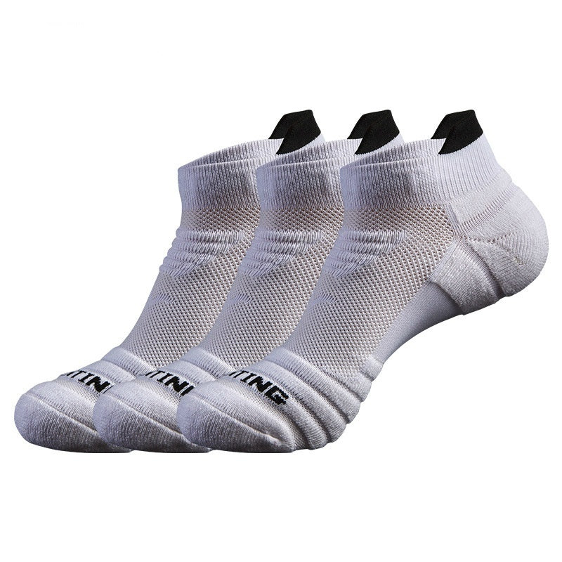 New Men's and Women's Professional Sports Socks Four Seasons Deodorant Towel Bottom Running Socks