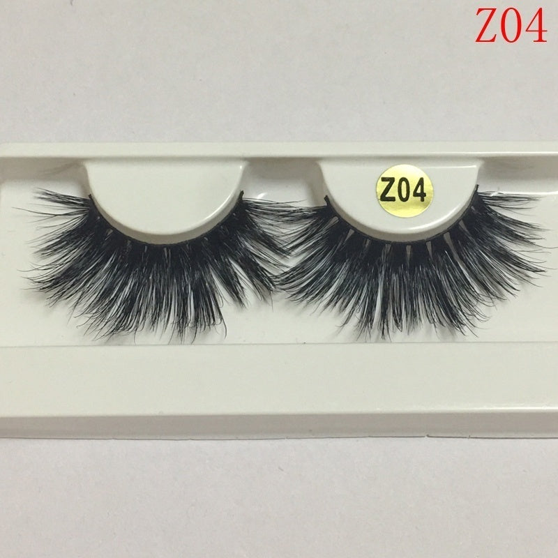 1 Pair Super Thick Long 3D Mink Lashes False Eyelashes Handmade Full Strip Soft Fluffy Mink Eyelash Makeup