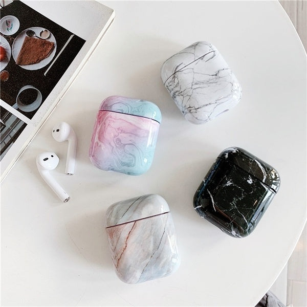 New Arrival Stylish Marble Pattern Hard PC Case Protector for Airpods Wireless Earphone Earbuds Airpods Case