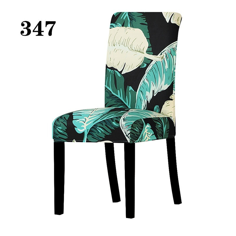 Universal Size Chair Cover Printing Floral Stretch Spandex Chair Protector Slipcover for Wedding Party Banquet Dining Room Home Decor