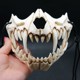 Halloween Cosplay Resin Mask Dragon God Mask Eco-friendly Animal Theme Party Animal Skull Mask