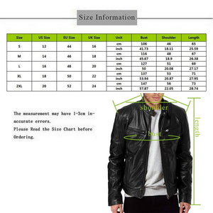 1PC Men's Leather Jacket Motorcycle Autumn Winter Long Sleeve Coat Vintage Cool Bomber Jacket