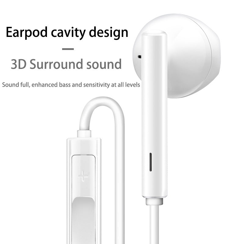 Huawei P20 Pro Mate10 USB Type-C Earphone Stereo Headphones with Mic & Volume